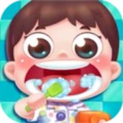 宝宝学自己刷牙